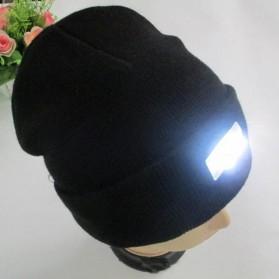 Woopower Topi Kupluk Camping Fishing Beanie Hat dengan Lampu LED - CRQ3 - Black