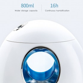 DELIXING Ultrasonic Air Humidifier Diffusers Aromatherapy 800ml - RJS63 - White - 8