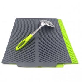DSstyles Alas Pengering Dapur Piring Gelas Foldable Kitchen Drainer - QW-825 - Gray