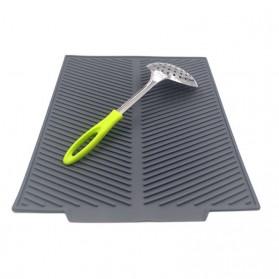 DSstyles Alas Pengering Dapur Piring Gelas Foldable Kitchen Drainer - QW-825 - Gray - 3
