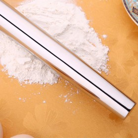 NewFeeling Roller Adonan Kue Rolling Pin Pastry Dough Baking Tool - JJ3874 - Silver - 3