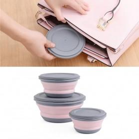 Loriver Kotak Makan Foldable Healthy Bento Lunch Box Eco Friendly 3 PCS - HG13062 - Pink - 4