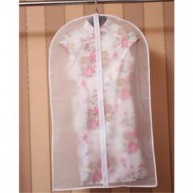 Faroot Cover Pakaian Anti Debu Dustproof Cloth Organizer 60x120cm -  PE2 - Transparent - 4