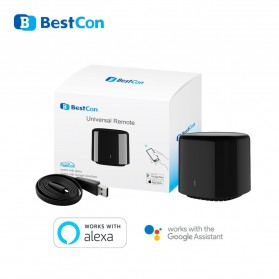 BestCon RM4C Mini Bestcon Intelligent Smart IR Transmitter Home Controller Automation - Black - 5
