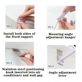 HOUSEEN Cover Angin AC Adjustable Air Conditioner Windshield Deflector - Z-DFB09 - White - 5