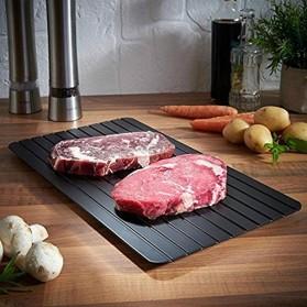 Meijuner Talenan Defrosting Daging Beku Multifungsi Meat Fast Thawing Board Size L - H0KA-748 - Black - 8