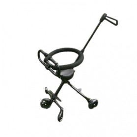 Infant Shining Foldable Children Trolley Baby Stroller Five Wheels with Fence - GCY-W002 - Black - 1