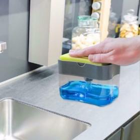 HOUSEEN Kotak Dispenser Sabun Cuci Piring Hand Push Sponge Portable -  O933 - Gray