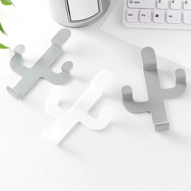 UrbanLife Gantungan Dinding Kaktus Hook Hanger Stainless Steel - H012 - White - 4