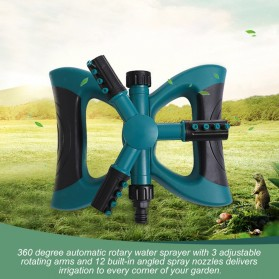 EECOO Sprinkler Air Taman 360 Derajat Automatic Watering Grass Lawn - BB-3106 - Green