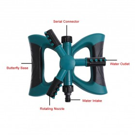 EECOO Sprinkler Air Taman 360 Derajat Automatic Watering Grass Lawn - BB-3106 - Green - 5