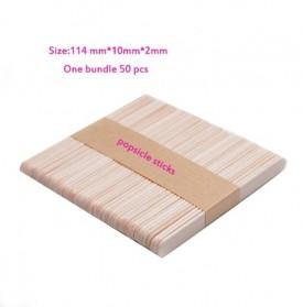 SJ Cetakan Es Krim 3 Hole Silicone Mold Dessert with 50 Popsicle Sticks Model Oval - JSC8004 - 8
