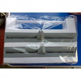ADOREHOUSE Rak Organizer Tisu Tin Foil Food Wrap Cutter Storage - R60V - Gray - 11