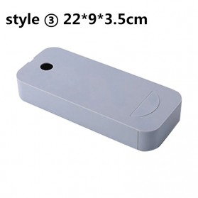 Staca Laci Meja Storage Box Case Desk Sticky Adhesive - STA03 - Gray