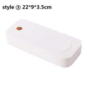 Staca Laci Meja Storage Box Case Desk Sticky Adhesive - STA03 - White
