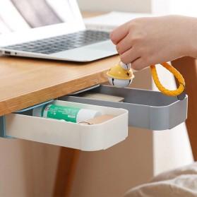 Staca Laci Meja Storage Box Case Desk Sticky Adhesive - STA03 - White - 2