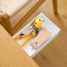 Staca Laci Meja Storage Box Case Desk Sticky Adhesive - STA03 - White - 3