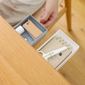 Staca Laci Meja Storage Box Case Desk Sticky Adhesive - STA03 - White - 4