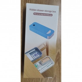 Staca Laci Meja Storage Box Case Desk Sticky Adhesive - STA03 - White - 6