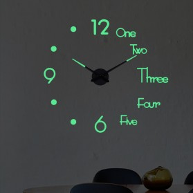 LUMINOVA Jam Dinding Besar DIY Giant Wall Clock Quartz Glow in The Dark 80-130cm - Lumi-003