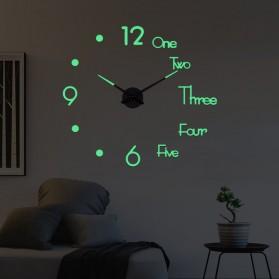 LUMINOVA Jam Dinding Besar DIY Giant Wall Clock Quartz Glow in The Dark 80-130cm - Lumi-003 - 2