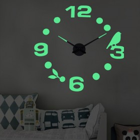 LUMINOVA Jam Dinding Besar DIY Giant Wall Clock Quartz Glow in The Dark 80-130cm - Lumi-005