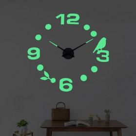 LUMINOVA Jam Dinding Besar DIY Giant Wall Clock Quartz Glow in The Dark 80-130cm - Lumi-005 - 2