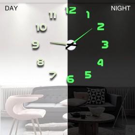 LUMINOVA Jam Dinding Besar DIY Giant Wall Clock Quartz Glow in The Dark 80-130cm - Lumi-005 - 4