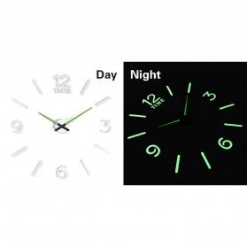 LUMINOVA Jam Dinding Besar DIY Giant Wall Clock Quartz Glow in The Dark 80-130cm - Lumi-005 - 5