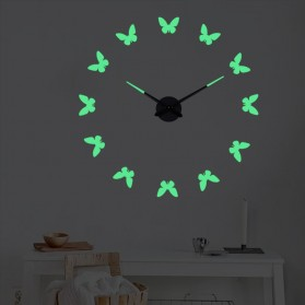 LUMINOVA Jam Dinding Besar DIY Giant Wall Clock Quartz Glow in The Dark 80-130cm - Lumi-009