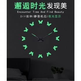 LUMINOVA Jam Dinding Besar DIY Giant Wall Clock Quartz Glow in The Dark 80-130cm - Lumi-009 - 2
