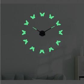 LUMINOVA Jam Dinding Besar DIY Giant Wall Clock Quartz Glow in The Dark 80-130cm - Lumi-009 - 3
