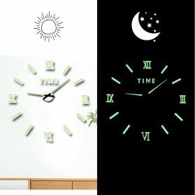 LUMINOVA Jam Dinding Besar DIY Giant Wall Clock Quartz Glow in The Dark 80-130cm - Lumi-009 - 4