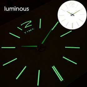 LUMINOVA Jam Dinding Besar DIY Giant Wall Clock Quartz Glow in The Dark 80-130cm - Lumi-006