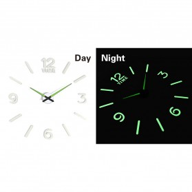 LUMINOVA Jam Dinding Besar DIY Giant Wall Clock Quartz Glow in The Dark 80-130cm - Lumi-006 - 4