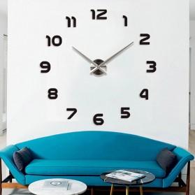 LUMINOVA Jam Dinding Besar DIY Giant Wall Clock Quartz Glow in The Dark 80-130cm - Lumi-006 - 5