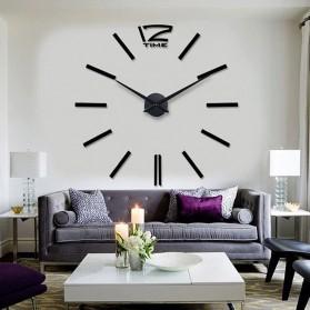 LUMINOVA Jam Dinding Besar DIY Giant Wall Clock Quartz Glow in The Dark 80-130cm - Lumi-006 - 6