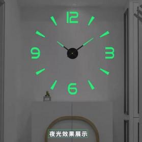 LUMINOVA Jam Dinding Besar DIY Giant Wall Clock Quartz Glow in The Dark 80-130cm - JM-08