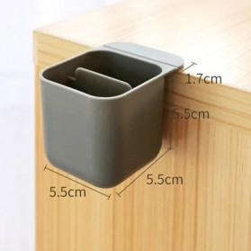 BLINGIRD Kotak Pensil Meja Holder Desktop Organizer Storage Box - AAA06 - Gray - 3