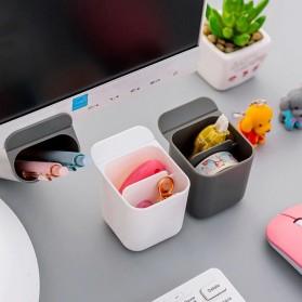 BLINGIRD Kotak Pensil Meja Holder Desktop Organizer Storage Box - AAA06 - Gray - 7