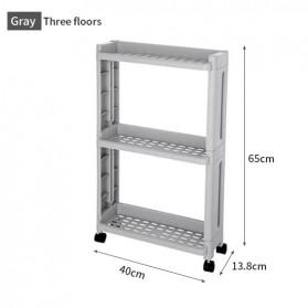 Pawaca Rak Laci Tingkat Dapur Kitchen Storage Rack 3 Layer - MOSB-02 - Gray