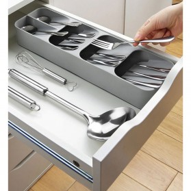 ANHICHEF Rak Organizer Dapur Tempat Sendok Garpu Tableware Storage Box - PP23 - Gray - 4