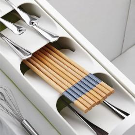 ANHICHEF Rak Organizer Dapur Tempat Sendok Garpu Tableware Storage Box - PP23 - Gray - 5