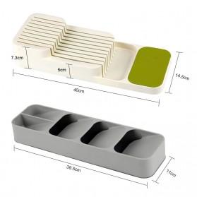 ANHICHEF Rak Organizer Dapur Tempat Sendok Garpu Tableware Storage Box - PP23 - Gray - 7