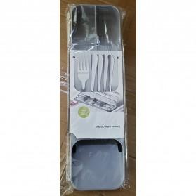 ANHICHEF Rak Organizer Dapur Tempat Sendok Garpu Tableware Storage Box - PP23 - Gray - 8