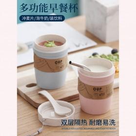 CUPPY Botol Mini Serbaguna Oatmeal Breakfast Cup Microwave Mug 300ml - CP201 - Blue