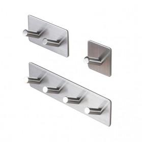 KHGDNOR Gantungan Dinding Kapstok Hook Hanger Stainless Steel 2 Hanger - MT30 - Silver - 2