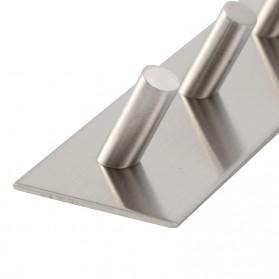 KHGDNOR Gantungan Dinding Kapstok Hook Hanger Stainless Steel 2 Hanger - MT30 - Silver - 6