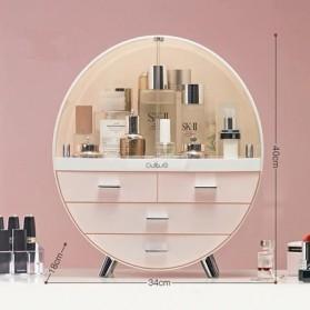 Mystica Rak Make Up Kosmetik Storage Box Bathroom Organizer Acrylic Desktop  - 1970 - Pink