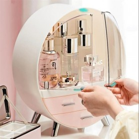 Mystica Rak Make Up Kosmetik Storage Box Bathroom Organizer Acrylic Desktop  - A1907 - Gray - 3